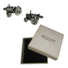 Mens Farm Tractor Silver Cufflinks & Gift Box By Onyx Art