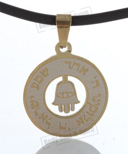 Hansa Hand Sacred Prayer Shema Pendant ring Necklace lucky charm Jewish Judaica