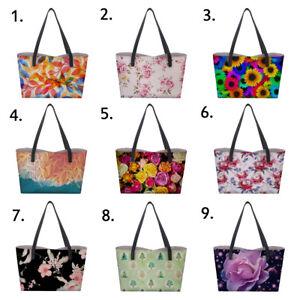 37665ec9e7da Floral Print Women s Designer Handbag Tote Shoulder Satchel Lady ...