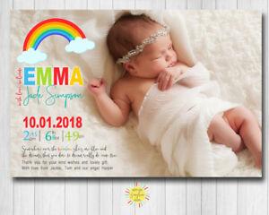 Printable Photo Birth Announcement Baby