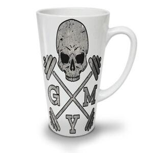 Skull Gym Fitness Sport NEW White Tea Coffee Latte Mug 12 17 oz   Wellcoda