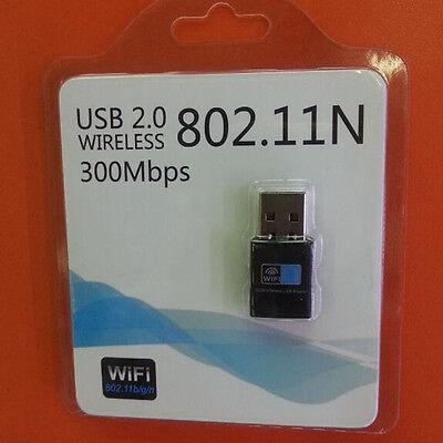 300M USB WiFi Wireless LAN 802.11 n/g/b Adapter Nano Network 300Mbps New