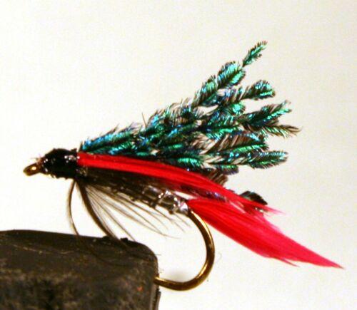 ICE FLIES. Wet flies Alexandra. Pick a size (4-pack). Size 8 - 16.
