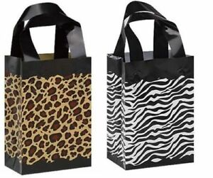 Image Is Loading 50 Leopard Zebra Print Frosted Plastic Bags Gift