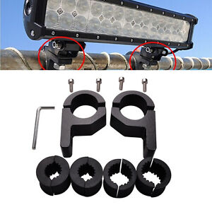 59063b5f5ada 2X 1  inch MOUNT BRACKET TUBE CLAMPS FOR LED LIGHT BAR OFF ROAD BULL ...