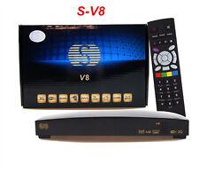 Genuine V8 Box HD Satellite Receiver S-V8 support 2xUSB Port USB Wifi WEB TV