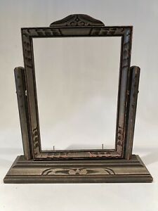 Antique-Vintage-Wooden-Standing-Swivel-Tilt-Frame-for-5x7-Size-Photos-or-Art
