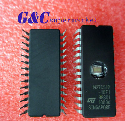10PCS IC 27C512 CDIP-28 ST NEW M27C512-10F1
