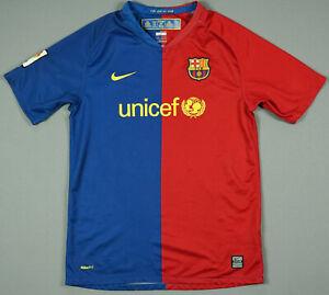 Fc Barcelona 2008 09 Home Jersey Football Shirt Pep Unicef Guardiola Xl Boys Ebay