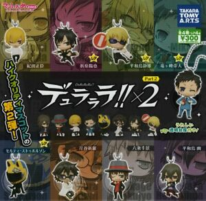 TAKARATOMY-A-R-T-S-Durarara-figure-key-chains-All-8-set-Gashapon-mascot-toys