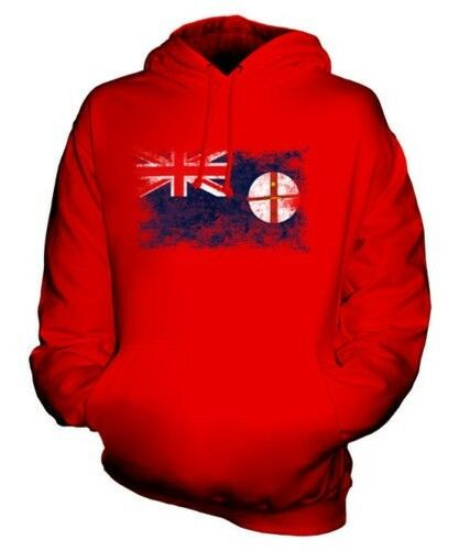 NEW SOUTH WALES DISTRESSED FLAG UNISEX HOODIE TOP WELSH JERSEY GIFT