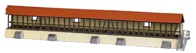 Busch 1597 cespuglio Heide città storica muro M. Mattoni Tetto Nuovo/Scatola Originale