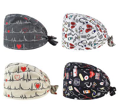 Black PolyCotton Women/'s Premium Scrub Cap Veterinarian LPN PA Head Covering  CareKaps Hospital Scrub Hat for Surgeons Nurses /& Doctors