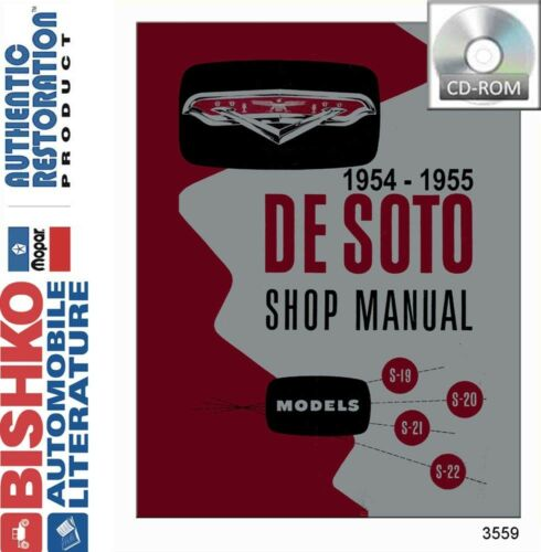 1954 1955 Desoto Shop Service Repair Manual CD