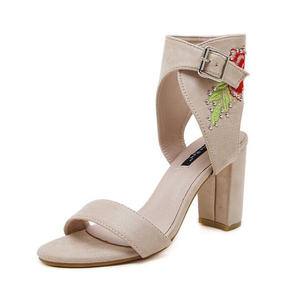Square Toe Court Heel 9.5 Beige Faux Leather Elegant drawings 9681