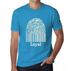 Loyal, Fingerprints Tshirt Col Rond Homme T-shirt, Bleu Tshirt, Cadeau