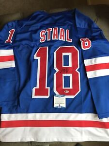 the latest 543cc d1a8f Details about Marc Staal Signed Rangers Jersey (Beckett Certified) Ready  for Framing