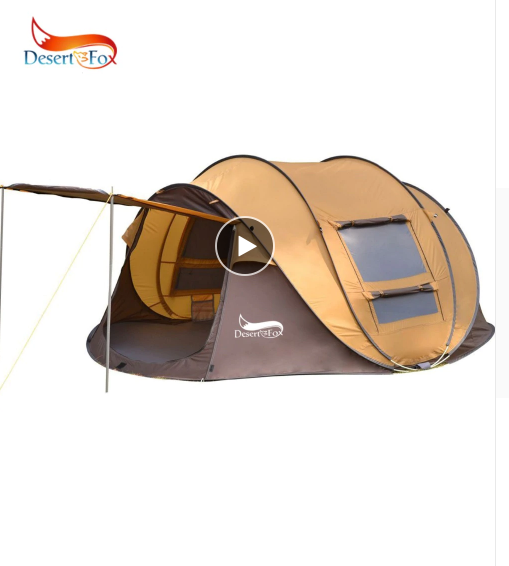 DESERT & FOX Pop up Camping Tent 3 4 Person Outdoor Automatic Instant Setup 4