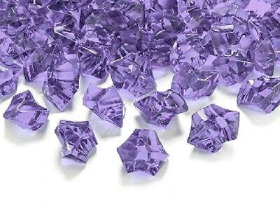 CRISTALLI di GHIACCIO lilla ADDOBBI confetti DECORAZIONI allestimenti TAVOLA
