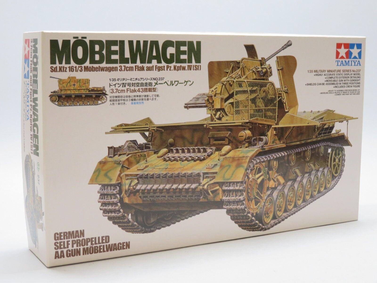 Tamiya 35237, WWII Dt. SdKfz 161 3 Möbelwagen 3,7cm Flak 1 35