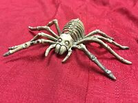 Dead Spider Skeleton Tarantula Bone Ornament Halloween Prop Horror Haunted House