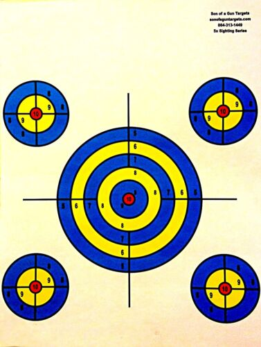 Paper Shooting Targets Gun Pistol Rifle Range 5 Circles Qty:25 19x25