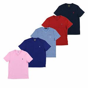 Polo-Ralph-Lauren-Mens-T-Shirt-Short-Sleeve-Custom-Slim-Fit-Casual-V-Neck-Nwt
