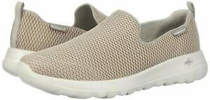 Skechers Womens 15600 Go Walk Joy Fabric Low Top Slip On, Taupe, Size 9.5 FGow