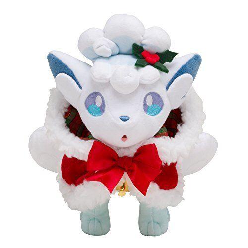 Nuevo muñeco de peluche de Pokemon Center Original Alola Vulpix Navidad de 2017