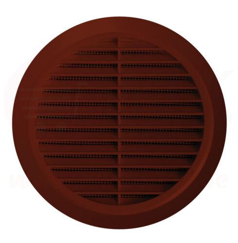 Lüftungsgitter Ø 110 mm rund braun Insektennetz Abluftgitter Gitter Lüftung T77