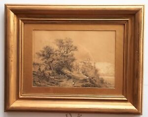 Listed-French-Artist-Blanchard-1800-dr-w-c-8-034-x-11-034-Signed