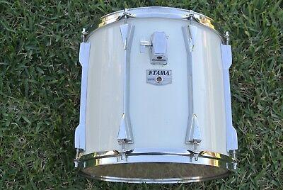 """1980's Tama Granstar 14 """" Tom In Weiß Für Ihre Trommelset! #m328"""