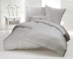 Bettwasche 200x200 Grau Uni Mako Satin 100 Baumwolle Einfarbig