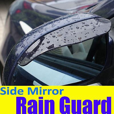 Tint BLACK Side Mirror Rain Snow Guard Visor Dodge008