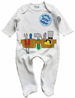 Dirty Fingers Baby Boy Sleep suit Builder DIY Tool Belt Grandad's Little Helper