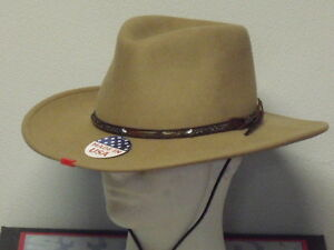 Image is loading STETSON-MOUNTAIN-VIEW-SAND-CRUSHABLE-WOOL-WESTERN-HAT 0d9fcbcf7be