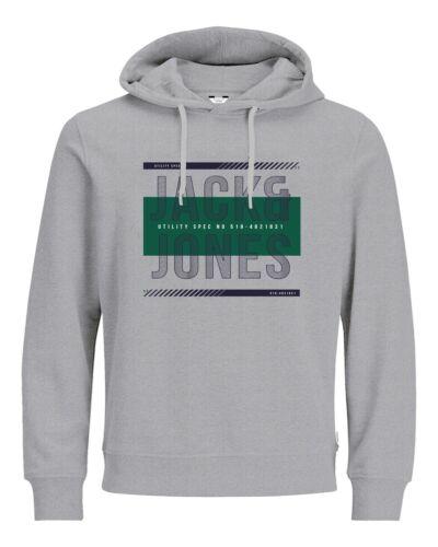 JACK /& Jones Core Felpa con cappuccio stampa sul petto con logo con cappuccio Pullover Maglione da uomo jcomario