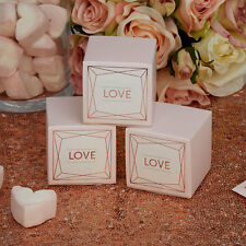 Rose Gold Geo Blush Wedding Favour Boxes x 10