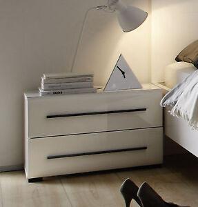 nachtkommode in weiss hochglanz nako nachttisch. Black Bedroom Furniture Sets. Home Design Ideas