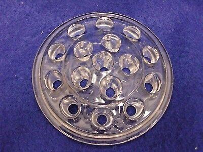 Vintage Clear Glass Frog Flower Floral Stem Holder Vase Domed 16 Hole 5 Wide Ebay