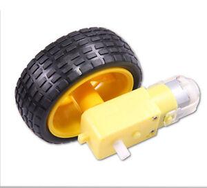 Smart car robot plastic tire wheel with dc 3 6v gear motor for Best dc motors for robots