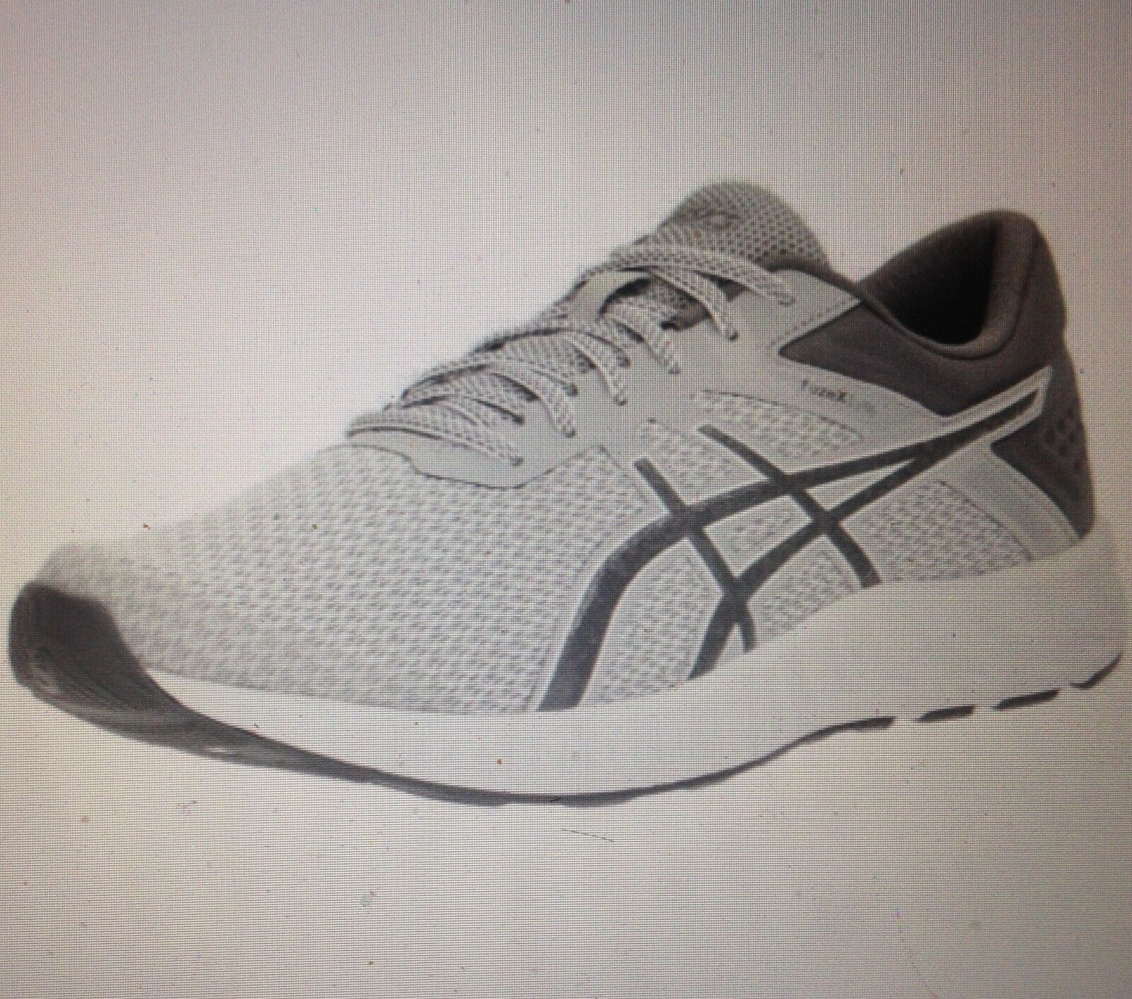 ASICS T719N Uomo FuzeX Lyte 2 Running Shoe MidGrey//Carbon/White / SIZE 7.5 MED