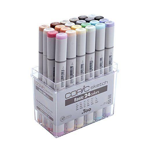 Copic sketch basic 24-color set Art Markers for Design/Manga/Anime Japan F/S