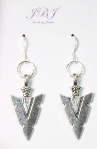 Arrowhead boucles d/'oreilles pendentifs Tribal thème ARROW 925 Sterling Silver Pewter Charms