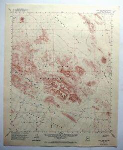 Map Of East Arizona.Little Horn Mountains Arizona Vintage Usgs Topographic Map 1962 East