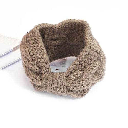 Simple Hair Ribbon Head Tied Bow Hoop Sweet Lovely Knittting Hair Band S