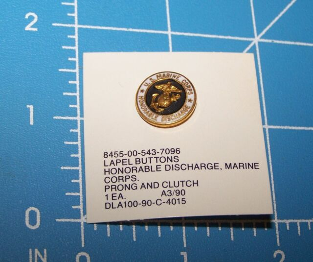 United States Marine Corps Honorable Discharge Lapel Pin USMC Button Hat w P38