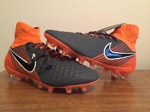 b38c77fcd081 Nike Magista Obra 2 Pro DF FG Dark Grey Black Orange Soccer Cleats ...
