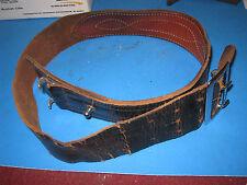 Size 34 Duty Belt Worn Leather Good Metal Parts 6p3