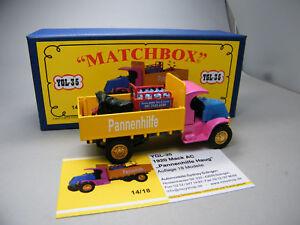 Matchbox-MoY-Code-2-YGL-35-Mack-AC-Pannendienst-mit-TukTuk-blaue-Box-1-von-9-OVP
